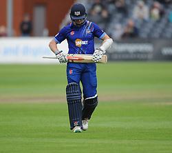 Dejection for Michael Klinger as he is dismissed for 87.  - Mandatory byline: Alex Davidson/JMP - 07966386802 - 26/08/2015 - Cricket - County Ground -Bristol,England - Gloucestershire v Hampshire  - Royal London One Day Cup Quarter-Final - Quarter Final