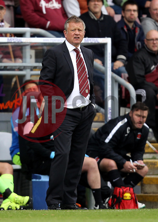 Northampton Town Manager Chris Wilder - Mandatory byline: Robbie Stephenson/JMP - 07966 386802 - 10/10/2015 - FOOTBALL - Sixfields Stadium - Northampton, England - Northampton Town v Hartlepool - Sky Bet League Two