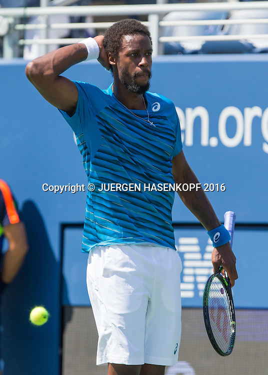 GAEL MONFILS (FRA) jubelt nach seinem Sieg,Jubel,Freude,Emotion, Gestik,Mimik,<br /> <br /> Tennis - US Open 2016 - Grand Slam ITF / ATP / WTA -  USTA Billie Jean King National Tennis Center - New York - New York - USA  - 4 September 2016.