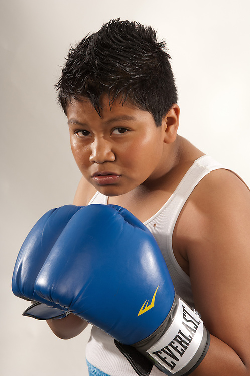 23 April 2011: George Rico poses for a portrait at La Habra Boxing Club in La Habra, CA