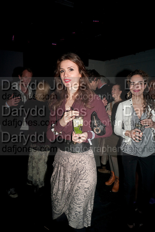 LARA BOHINC, Vanity Fair  hosted  UK Premiere and party for Beyond Time. A film about the artist William Turnbull made by his son Alex Turnbull. Narrated by Jude Law. I.C.A. London. 17 November 2011<br /> <br />  , -DO NOT ARCHIVE-© Copyright Photograph by Dafydd Jones. 248 Clapham Rd. London SW9 0PZ. Tel 0207 820 0771. www.dafjones.com.