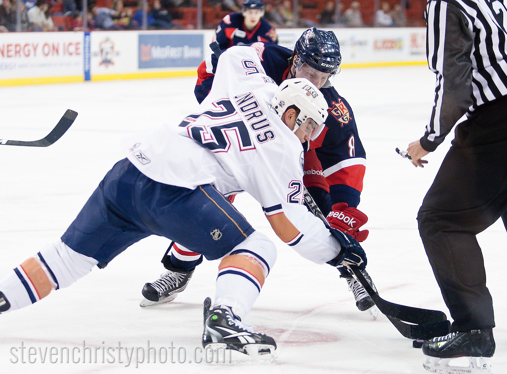 March 11, 2011: The Oklahoma City Barons play the Grand Rapids Griffins in an American Hockey League game at the Cox Convention Center in Oklahoma City.