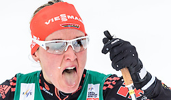 20.02.2016, Salpausselkae Stadion, Lahti, FIN, FIS Weltcup Langlauf, Lahti, Damen, im Bild Denise Herrmann (GER) // Denise Herrmann of Germany reacts during Ladies FIS Cross Country World Cup, Lahti Ski Games at the Salpausselkae Stadium in Lahti, Finland on 2016/02/20. EXPA Pictures © 2016, PhotoCredit: EXPA/ JFK