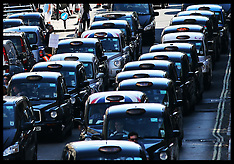 SEP 24 2014 London black cab demo