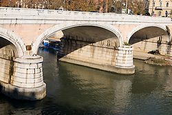 A bridge spans over the River Tiber,  Rome, Italy December 1, 2007.