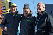 Charlie Capelle (Classe Rhum Multi ACAPELLA - SOREAL - PROLUDIC), Mike Birch (winner of the 1st édition Route du Rhum in 1978) and Marc Pajot during the Route du Rhum 2018, on November 2nd, in Saint Malo, France, before the Route du Rhum sailing race to start on November 4th 2018 - Photo Olivier Blanchet / ProSportsImages / DPPI