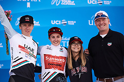 Juliette Labous (FRA) earns the best young rider jersey at Amgen Tour of California Women's Race empowered with SRAM 2019 - Stage 3, a 126 km road race from Santa Clarita to Pasedena, United States on May 18, 2019. Photo by Sean Robinson/velofocus.com