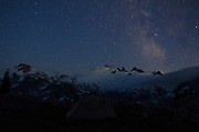 Stars over Mount Challenger, North cascades National Park