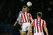 Adam Reach of Sheffield Wednesday and Stephen Ward of Stoke City compete for the ball during the EFL Sky Bet Championship match between Sheffield Wednesday and Stoke City at Hillsborough, Sheffield, England on 22 October 2019.