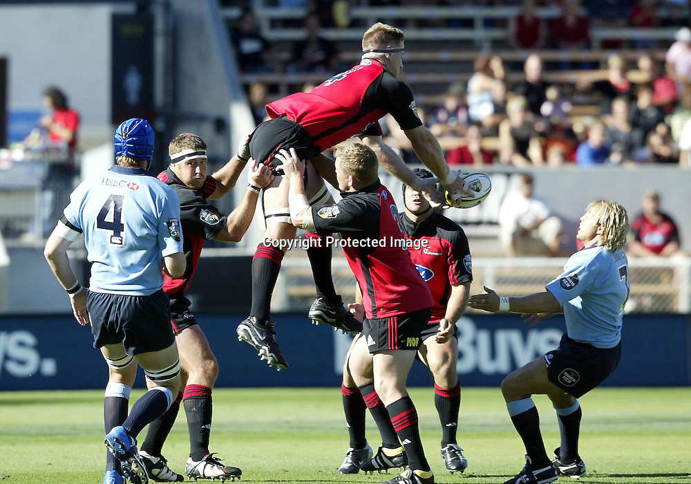 21 February, 2004. Jade Stadium, Christchurch, New Zealand. Rugby Union Super 12. Crusaders vs Waratahs. <br />