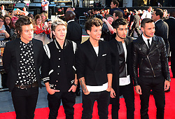 One Direction arriving for the world premiere of their film One Direction: This Is Us,<br /> London, United Kingdom.<br /> Tuesday, 20th August 2013.  Picture by Nils Jorgensen / i-Images