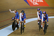Women Team Pursuit, Great Britain, ARCHIBALD Katie, KENNY Laura, BARKER Elinor, EVANS Neah, DICKINSON Eleanor, gold medal, during the UEC Track Cycling European Championships Glasgow 2018, at Sir Chris Hoy Velodrome, in Glasgow, Great Britain, Day 2, on August 3, 2018 - Photo Luca Bettini / BettiniPhoto / ProSportsImages / DPPI - Belgium out, Spain out, Italy out, Netherlands out -