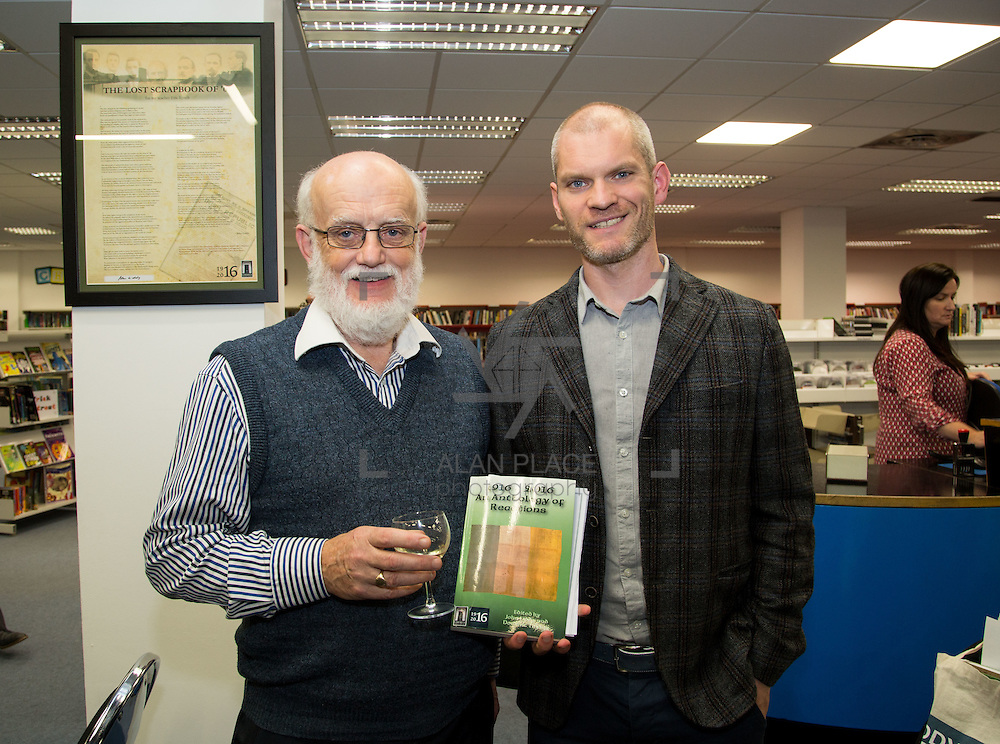 20.10.2016                 <br />  Launch of 1916-2016 Anthology of Reactions by Dr. John O&rsquo;Callaghan, Limerick City Library.<br /> This anthology is part of the Ireland 2016 year of events that feed into the Ireland 2016 Centenary Programme. It is a book of historical and literary reaction, a compilation of articles, essays, poems, stories and illustrations from writers and artists of varying opinion and hue.<br /> <br /> Pictured at the event were, Michael Farry and Dr. John O'Callaghan. Picture: Alan Place