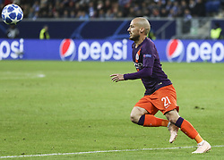 October 2, 2018 - Sinsheim, Germany - David Silva 21; during the UEFA Champions League group F football match between TSG 1899 Hoffenheim and Manchester City at the Rhein-Neckar-Arena in Sinsheim, southwestern Germany, on October 2, 2018. (Credit Image: © Elyxandro Cegarra/NurPhoto/ZUMA Press)