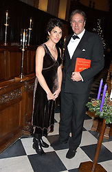 TIMOTHY BENTINCK and TAMSIN GREIG both from radios The Archers at Carols from Chelsea in aid of the Institute of Cancer Research at the Royal Hospital Chapel, Chelsea, London on 1st December 2005.<br /><br />NON EXCLUSIVE - WORLD RIGHTS