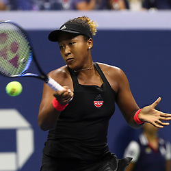 Naomi Osaka of Japan in action on Day 11 of the 2018 US Open Tennis Championships on September 6, 2018 in New York, United States. (Photo by Marek Janikowski/Icon Sport)