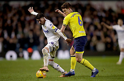 Leeds United's Pablo Hernandez (left) battles for possession of the ball with Blackburn Rovers' Richard Smallwood during the Sky Bet Championship match at Elland Road, Leeds.