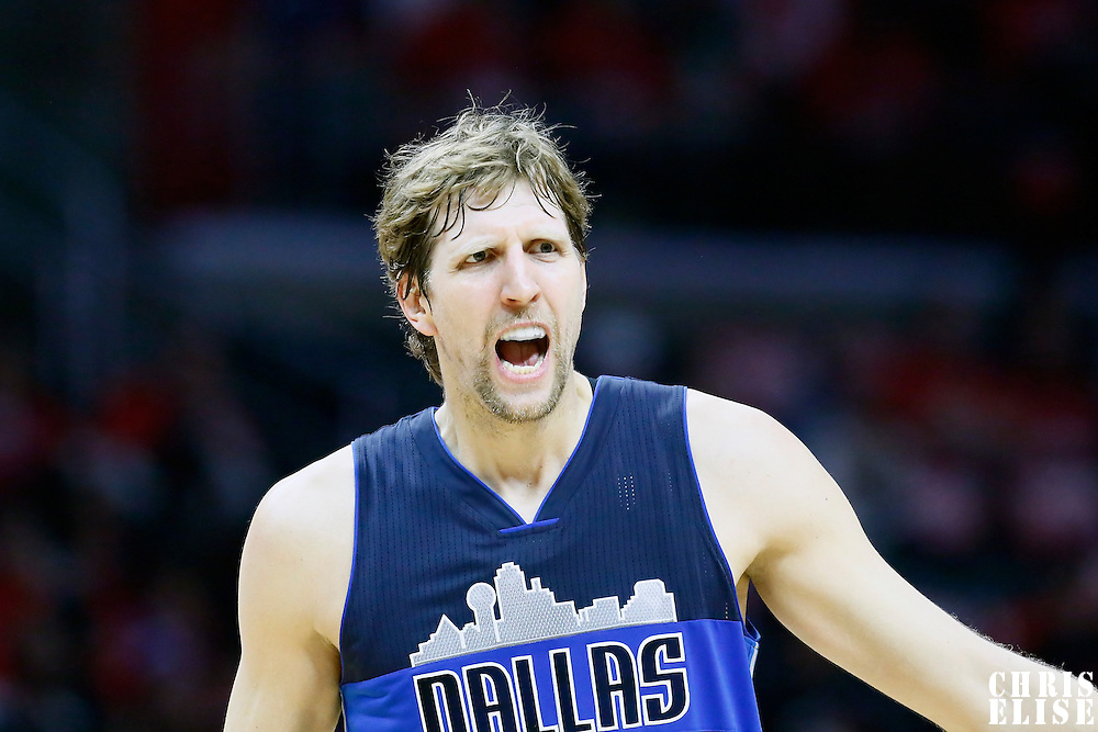 23 December 2016: Dallas Mavericks forward Dirk Nowitzki (41) reacts during the Dallas Mavericks 90-88 victory over the LA Clippers, at the Staples Center, Los Angeles, California, USA.