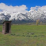 Mormon Row Outhouse - Grand Tetons, WY