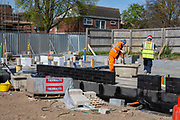 Builders laying foundations on new house construction site in Norwich. Norfolk.  United Kingdom. (photo by Andrew Aitchison / In pictures via Getty Images)