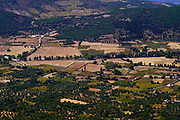 landscape and farmland as seen on the Greek Island of Cephalonia, Ionian Sea, Greece