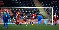 WIDNES, ENGLAND - Wednesday, February 7, 2018: Arsenal Ladies' Vivianne Miedema scores after seeing her penalty saved during the FA Women's Super League 1 match between Liverpool Ladies FC and Arsenal Ladies FC at the Halton Stadium. (Pic by David Rawcliffe/Propaganda)