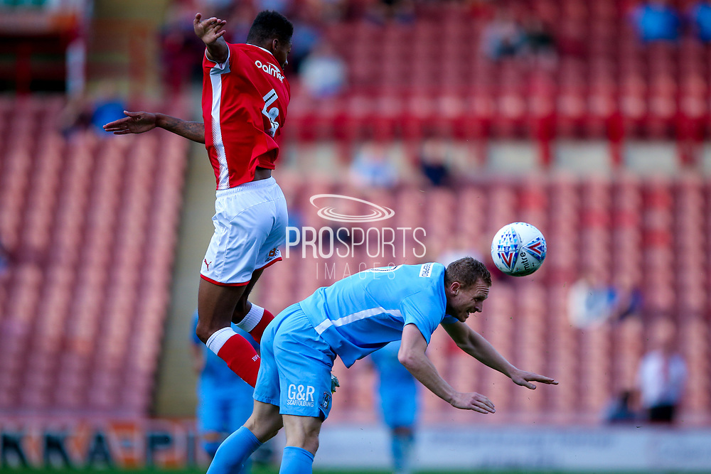 Coventry City forward Stuart Beavon (9) can't get to the ball  during the Pre-Season Friendly match between Barnsley and Coventry City at Oakwell, Barnsley, England on 18 July 2017. Photo by Simon Davies.