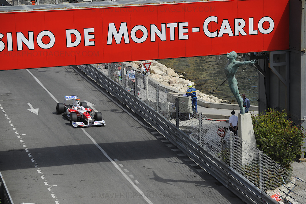 Toyota driver Jarno Trulli photographed during Qualifying for the 2009 Monaco Grand Prix.