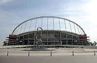 Fussball 1. Bundesliga:  Saison   2011/2012    Winter Trainingslager des FC Bayern Muenchen  05.01.2012 Aussenansicht des Khalifa Stadium im Aspire Sports Center in Doha