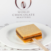 """Michael Cotard's Classic Dessert Revisited """"Tarte au Sucre"""". World Chocolate Masters Canadian Selection, January 20, 2013."""