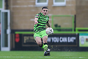 Forest Green Rovers Liam Kitching(20) passes the ball forward during the The FA Cup match between Forest Green Rovers and Billericay Town at the New Lawn, Forest Green, United Kingdom on 9 November 2019.