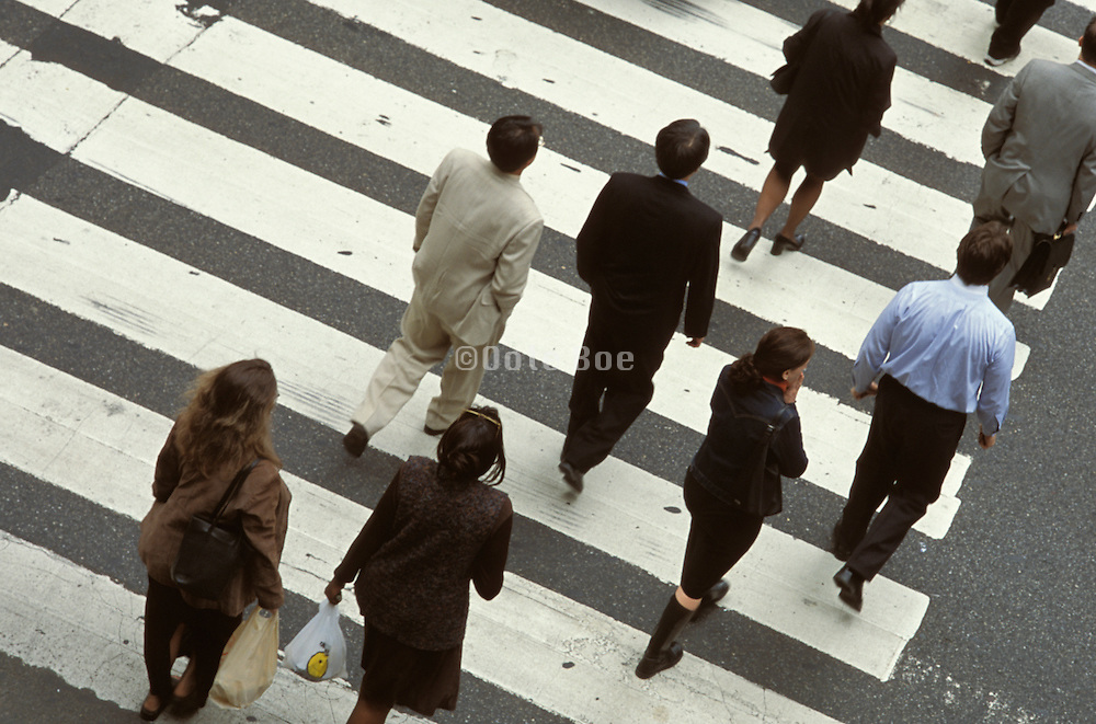People crossing an urban street