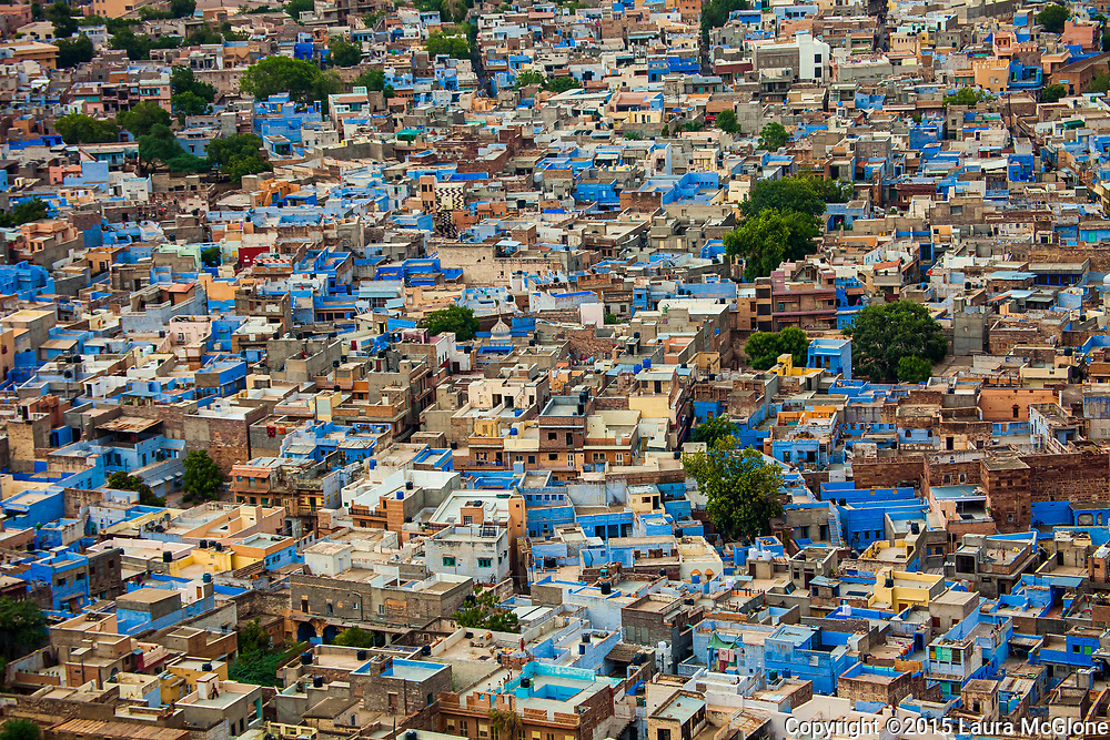 Jodhpur Blue City from above, India