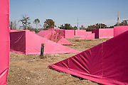 "Brad Pitt's $12 million ""Make It Right"" project: a vast public art display serves as a fundraiser to expand the project beyond its initial goal to build 150 homes; client: NeighborWorks America"