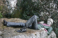 Oscar Wilde statue, Merrion Square park, Dublin, Ireland