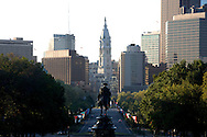 UNITED STATES-PHILADELPHIA-View on Benjamin Franklin Parkway from the steps of the Philadelphia Museum of Modern Art. PHOTO: GERRIT DE HEUS..VERENIGDE STATEN-PHILADELPHIA- Uitzicht op de Benjamin Franklin Parkway vanaf de trappen van het Philadelphia Museum of Modern Art.  COPYRIGHT GERRIT DE HEUS