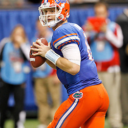 Jan 2, 2013; New Orleans, LA, USA; Florida Gators quarterback Jeff Driskel (6) against the Louisville Cardinals during the Sugar Bowl at the Mercedes-Benz Superdome. Louisville defeated Florida 33-23. Mandatory Credit: Derick E. Hingle-USA TODAY Sports