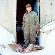 SHISHMAREF, ALASKA - 2010: Johnny Weyiouanna.