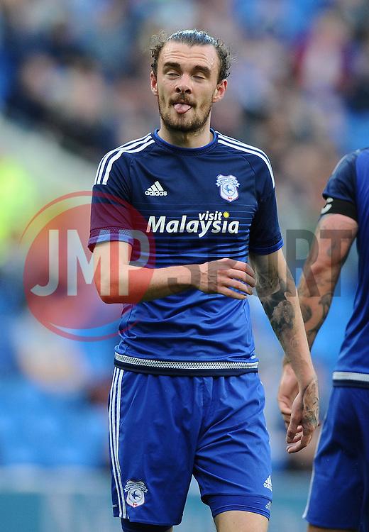 Scott Malone of Cardiff City  - Mandatory by-line: Joe Meredith/JMP - 07966386802 - 28/07/2015 - SPORT - FOOTBALL - Cardiff,Wales - Cardiff City Stadium - Cardiff City v Watford - Pre-Season Friendly