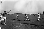 30/09/1964<br /> 09/30/1964<br /> 30 September 1964<br /> Air Corps v Southern Command at Baldonnel.<br /> M. O'Connor (14) prepares to act in case this goal by T. Brewman (12) should be stopped by Air Corps goalie, J. Noonan (left).
