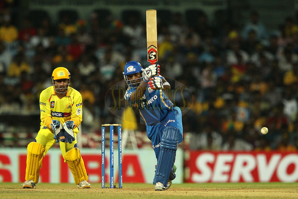 Tirumalasetti Suman during match 3 of the NOKIA Champions League T20 ( CLT20 )between the Chennai Superkings and the Mumbai Indians held at the M. A. Chidambaram Stadium in Chennai , Tamil Nadu, India on the 24th September 2011..Photo by Ron Gaunt/BCCI/SPORTZPICS