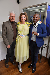 Left to right, NICKY HASLAM, LARA GRYLLS and DEREK LAUD at a lunch to promote the jewellery created by Luis Miguel Howard held at Morton's, Berkeley Square, London on 20th October 2016.