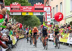 09.07.2019, Frohnleiten, AUT, Ö-Tour, Österreich Radrundfahrt, 3. Etappe, von Kirchschlag nach Frohnleiten (176,2 km), im Bild Giovanni Visconti (ITA, Neri Sottoli - Selle Italia - KTM) siegt in Frohleiten, Steiermark // Giovanni Visconti of Italy (Neri Sottoli - Selle Italia - KTM) stage winner in Frohnleiten Styria during 3rd stage from Kirchschlag to Frohnleiten (176,2 km) of the 2019 Tour of Austria. Frohnleiten, Austria on 2019/07/09. EXPA Pictures © 2019, PhotoCredit: EXPA/ Reinhard Eisenbauer