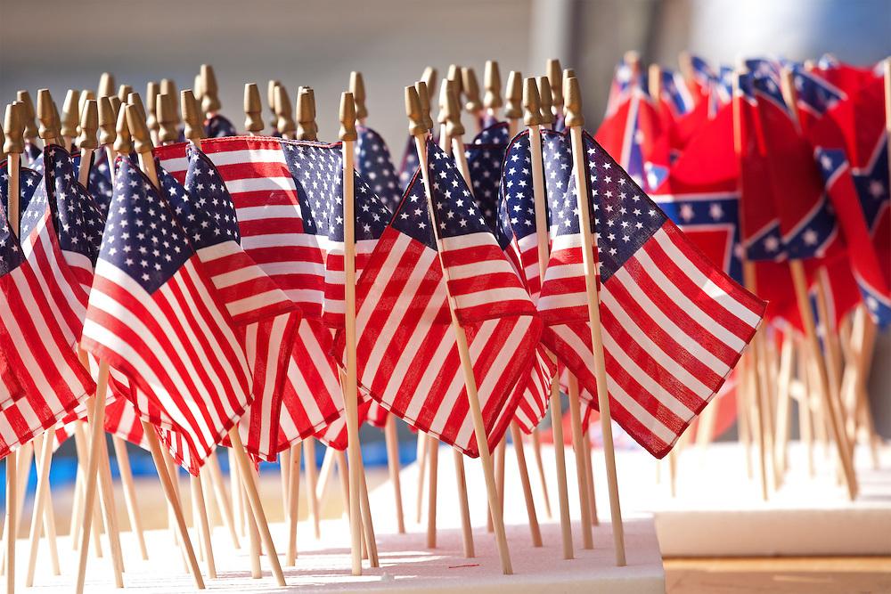 US Flag Display at a Civil War Event