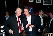 LORD ROTHSCHILD; HARRY LANGTON, Bitch- Auction and fundraiser for the dog charity Care. The Cuckoo Club, London. 7 December 2010. -DO NOT ARCHIVE-© Copyright Photograph by Dafydd Jones. 248 Clapham Rd. London SW9 0PZ. Tel 0207 820 0771. www.dafjones.com.
