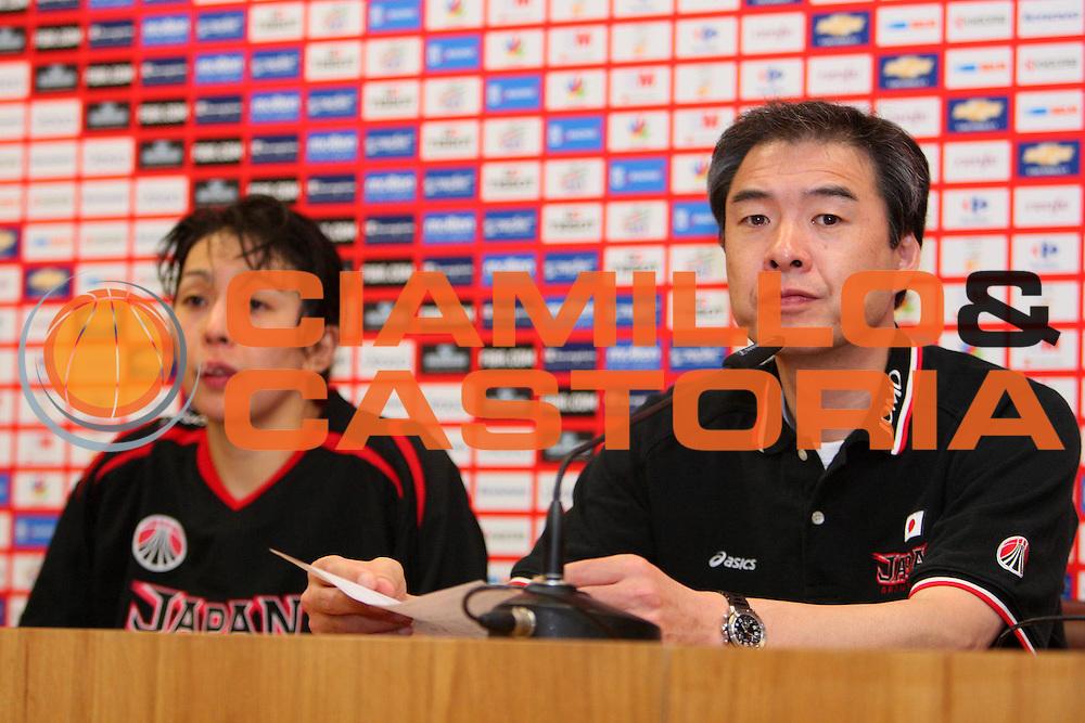 DESCRIZIONE : Madrid 2008 Fiba Olympic Qualifying Tournament For Women Senegal Japan <br /> GIOCATORE : Utsumi Tomohide Press Conference Conferenza Stampa <br /> SQUADRA : Japan Giappone <br /> EVENTO : 2008 Fiba Olympic Qualifying Tournament For Women <br /> GARA : Senegal Japan Giappone <br /> DATA : 10/06/2008 <br /> CATEGORIA : Ritratto <br /> SPORT : Pallacanestro <br /> AUTORE : Agenzia Ciamillo-Castoria/S.Silvestri <br /> Galleria : 2008 Fiba Olympic Qualifying Tournament For Women <br /> Fotonotizia : Madrid 2008 Fiba Olympic Qualifying Tournament For Women Senegal Japan <br /> Predefinita :