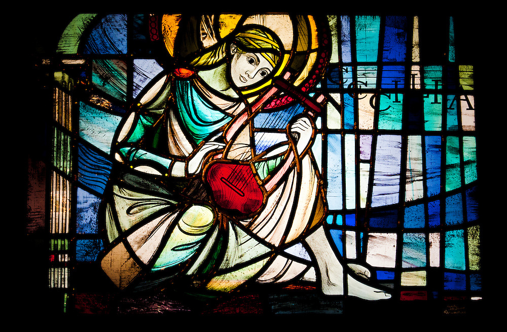 Church leadlight window, Hastings, New Zealand, 13 June, 2012. Photo: SNPA / Bethelle McFedries
