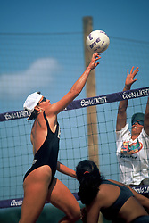 AVP/WPVA Professional Beach Volleyball/Womans Professional Volleyball - San Francisco, CA 1996 - Karoline Kirby -  Photo by Wally Nell/Volleyball Magazine