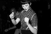 Unknown Skinhead Woman Dances, Brighton, 2014.