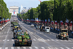 Atmosphere and Leclerc tank during Bastille Day Military Parade, Place de la Concorde, in Paris on July 14, 2017. Photo by Ammar Abd Rabbo/ABACAPRESS.COM